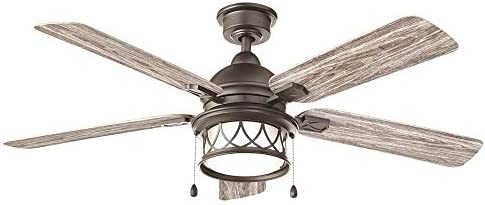Home Decorators Collection Artshire 52 in. Integrated LED Indoor/Outdoor Natural Iron Ceiling Fan