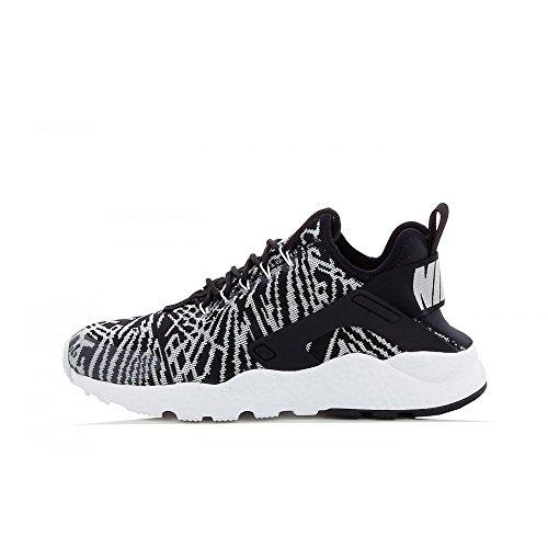 nike womens air huarache run ultra KJCRD running trainers 818061 sneakers shoes (38,5, black white 001)