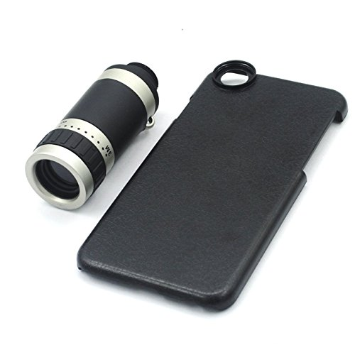 Obiettivo Meres 8X teleobiettivo telescopio con Case Cover per iPhone nero (per iPhone 6 / 6s )