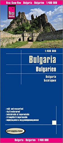 Reise Know-How Landkarte Bulgarien (1:400.000): world mapping project