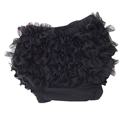 Luckyauction Baby Infant Girls Cotton Ruffle Panties Briefs Bloomer Black