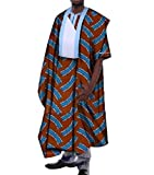 Tootless-Men Vogue Dashiki Africa Longline Batik Cotton Retro T-Shirts 1 M