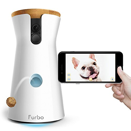 Electronics : Furbo Dog Camera: Treat Tossing, Full HD Wifi Pet Camera and 2-Way Audio, Designed for Dogs, Works with Amazon Alexa (As Seen On Ellen)
