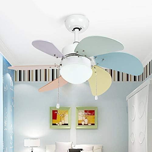 YBCD Luz de Ventilador/LED para niños luz de Ventilador de Techo / 30 Pulgadas / 76 CM luz de Ventilador cargada Sencilla lámpara de Ventilador en casa silencioso ...