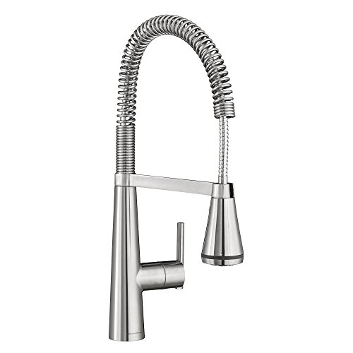 Stainless Steel Professional Faucet (American Standard 4932350.075 Edgewater Semi-Professional Kitchen Faucet with SelectFlo, Stainless Steel)