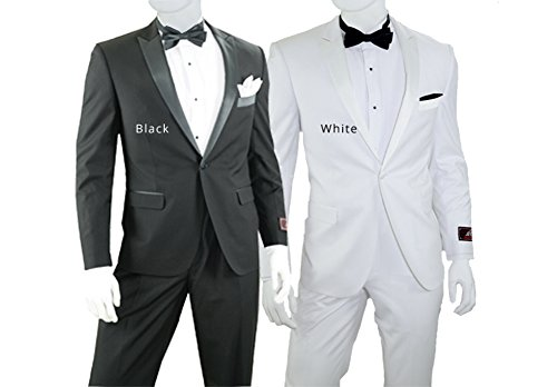 Slim Fit Tuxedo - Available in Black or White