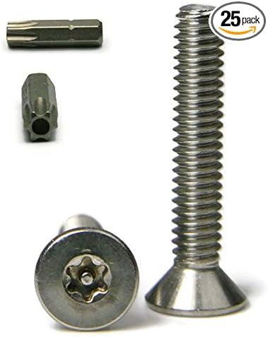 25//pk 12 x 1-1//2 Button Head Torx Tamper Proof Sheet Metal Screw 18-8 SS