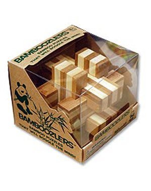 1 Bamboo Wooden Puzzles Set - Bamboozlers by Toysmith