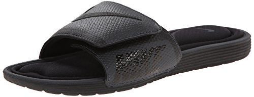 - NIKE Men's Solarsoft Comfort Slide Sandal, Black/Anthracite, 12 D(M) US