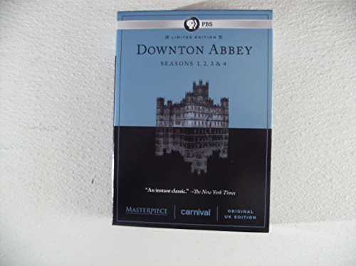 12 disc limited edition downton abbey seasons 1,2,3,4, original uk edition 2011-2014
