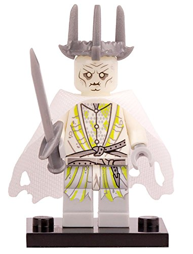 Witch-king of Angmar The Lord of the Rings Minifigure Building Block Toy - Compatible Mini Action Figure - Interchangeable Building Kit by Hatber (Nazgul Witch King)