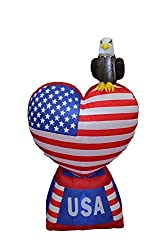 5 Foot Tall Patriotic Independence Day Inflatable Love...