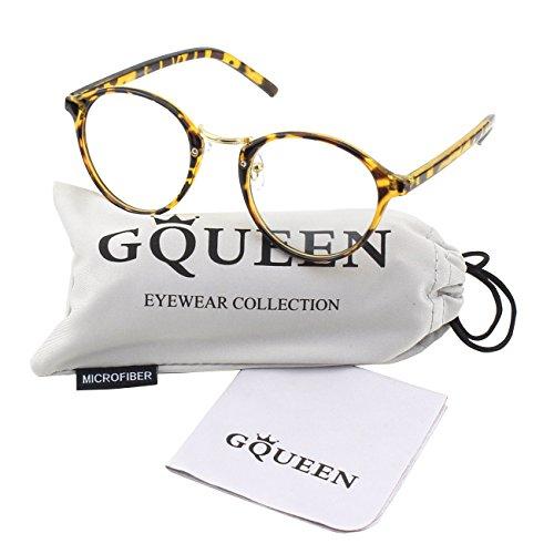 GQUEEN 201565 Vintage Inspired Horned Rim Metal Bridge Clear Lens Eye Glasses,Mixed - Online Hipster Glasses