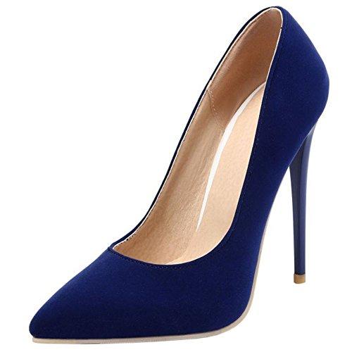 Mujer 10cm Colors Su Zapatos Zanpa Tacon Blue Formal heel 9 7zxdgfwqn
