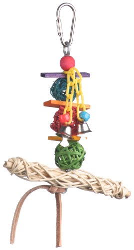 Image of Super Bird Creations 6 by 5-Inch Vine Twist T-Bar Swing Bird Toy, Small