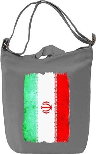Iran Flag Borsa Giornaliera Canvas Canvas Day Bag  100% Premium Cotton Canvas  DTG Printing 