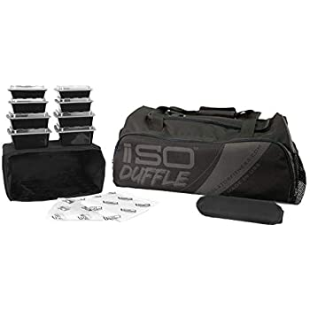 Isolator Fitness 6 Meal ISODUFFLE Gym Bag Meal Prep Management Insulated Duffle  Lunch Bag with 8 d8e65054a0d3f