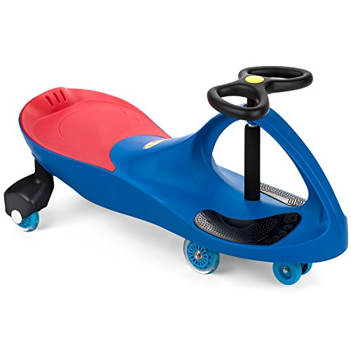 The Original PlasmaCar by PlaSmart Inc. - Polyurethane PU Wheels - Blue, Ride On Toy, Ages 3 yrs and up - No batteries, gears, or pedals, Twist, Turn, Wiggle for endless fun