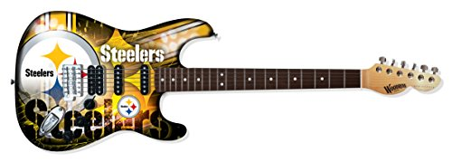 Woodrow Guitar by The Sports Vault NFL Pittsburgh Steelers Northender Electric Guitar