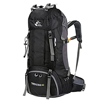 Dire-wolves 60L Large Capacity Travel Backpack Trekking Rucksacks Fashion  Mounaineering HikingBackpack With Rain Cover 1ba2290a1f840