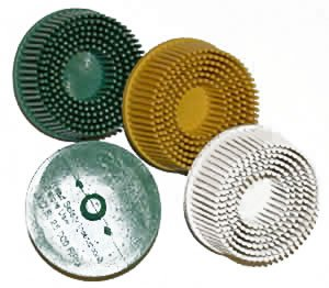 Roloc Bristle Discs - 2 In - 80 Grit - Yellow
