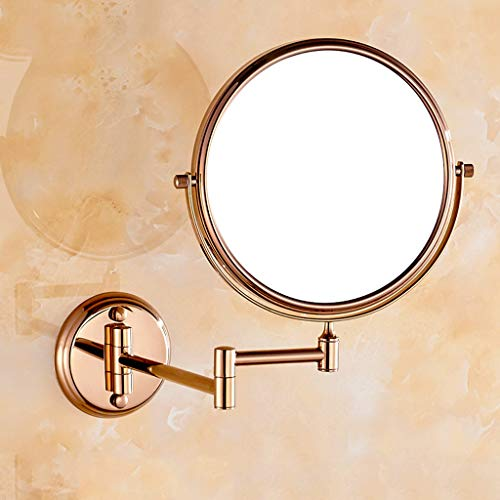 Copper Rose Gold Makeup Mirror Bathroom Bathroom Double Side 3X Magnifying -