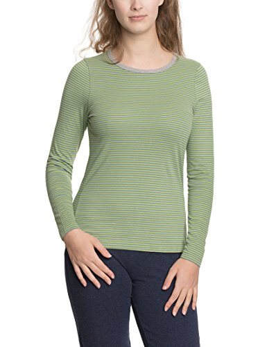 loud + proud Shirt, Camiseta de Manga Larga para Mujer Verde (Moos Mo)