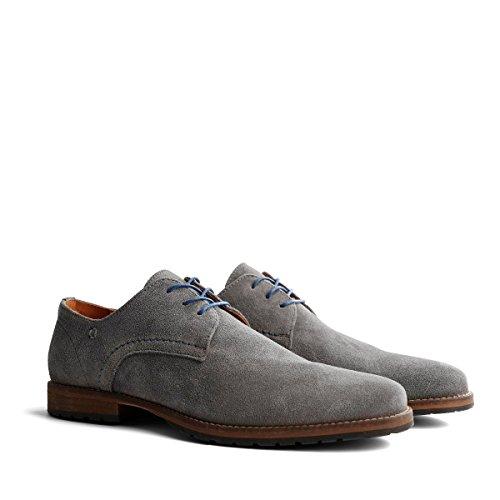Travelin Manchester Suede Business Schuhe Herren   Schnürhalbschuhe   Freizeitschuhe   Hochzeitschuhe   Anzugschuhe   Derby Lederschuhe Grau 48 EU