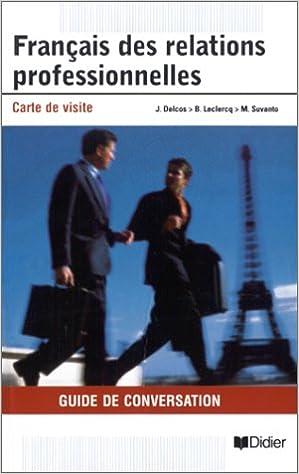 Français des relations professionnelles : Carte de visite pdf, epub