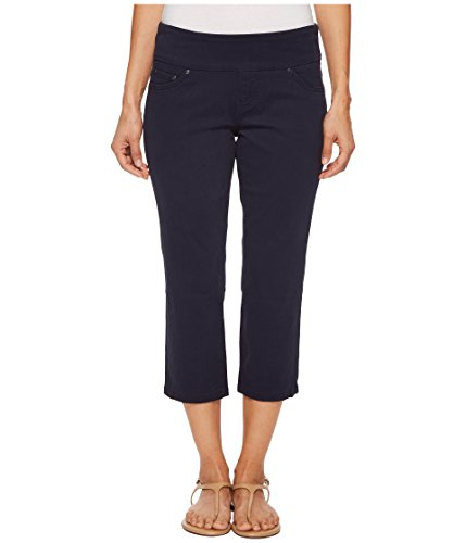 Jag Jeans Women's Petite Peri Straight Pull on Crop, Nautical Navy, 4P