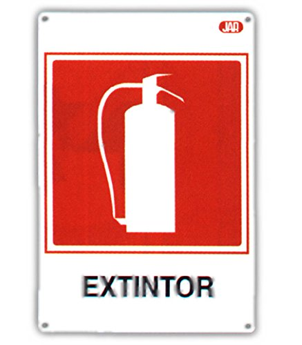 Jar - Cartel obra 45x30cm extintor: Amazon.es: Bricolaje y ...