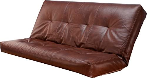 leather 5000 series futon mattresses vertical 8 inch innerspring full size  saddle  futons   amazon    rh   amazon