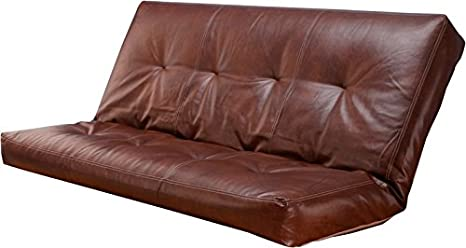 Leather 5000 Series Futon Mattresses Vertical 8 Inch Innerspring Full Size (Saddle)
