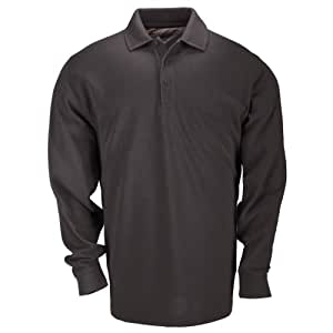 5.11 Tactical Long Sleeve Tall Professional Polo Shirt, Black, Large