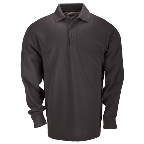 5.11 Tactical Mens Long Sleeve Professional Dress Polo Shirt Cotton Pique Knit Fabric Style 42056