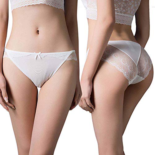 aaaf1e59c83 Vivilover Women s Sexy Lingerie Underwear Lace Thong Hipster Panties Pack  of 6