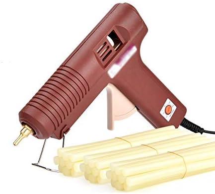 ビズアイ ホットメルトグルーガン10/30グルースティック100W工業用グレード電気ホットメルトグルーガン急速加熱技術、DIYアートクラフト装飾、ホームファストリペア、木工、ホリデーデコレーション(ブラウン) ホットグルーガン (Color : 30 glue sticks)