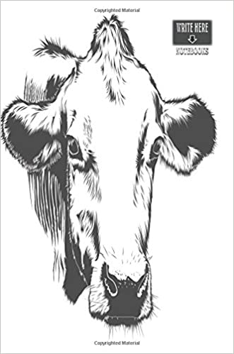 Write Here Notebooks: Cow Notebook / Journal 100 Pages of