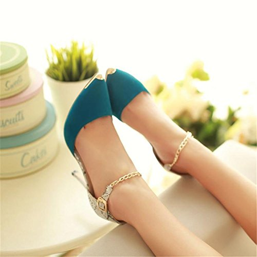 Heels Size Dress Sexy Color Heels Stilettos Pointed Summer 42 Open Women's Evening amp; Toe Toe Shoes for B Party q4xgwxTX