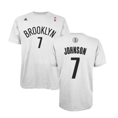 adidas Nets Joe Johnson Home Game Time T-Shirt, XXL