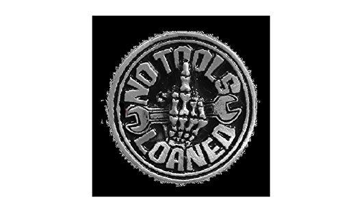 Licensed Originals Inc., No Tools Loaned Lapel Pin - Heavy Pewter Biker Artwork Brooch Badge Button Pins