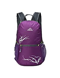 TOFINE Women's Small Hiking Travel Camping Gear Lightweight Foldable Waterproof Portable Backpack