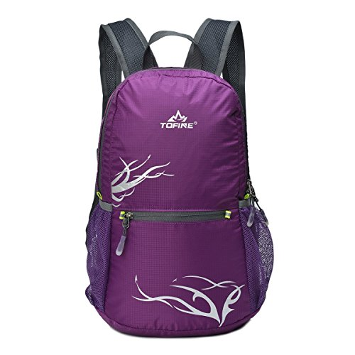Tofine Fashion Day Trip Lightweight Daypack Mini Packable Backpack Purple 15 Liters