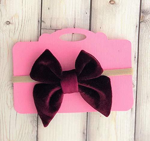 Burgundy bow headband - baby headband - velvet bow - girls headband - nylon  headband - headbands - wine bow - velvet baby headband - holiday bow  headband ... ea4f653b46a