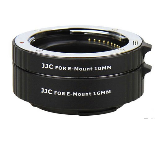 JJC AET-NEXS Auto Extension Tube 10mm & 16mm For Sony E Mount NEX Lenses With A&R Cleaning cloth by JJC