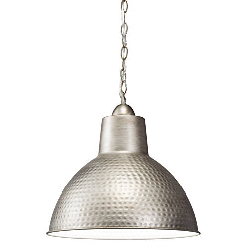 Kichler 78200AP Missoula Pendant 1-Light, Antique Pewter (Metal Hammered Pendant Light)