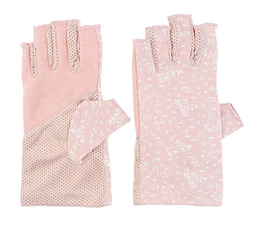 (Summer Hiking Outdoor Sun Gloves Summer Dress Driving Gloves Cool Biking Anti UV Gloves, One Size, Pink)