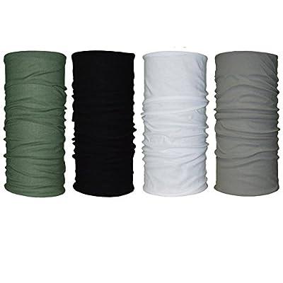 QING OUTDOOR Premium Double Dry Headwear Sweat Wicking Headbands Neck Gaiter Bandana Balaclava Helmet Liner Head Wrap Scarf Sweatband Great Gifts for Men Women Set of 4