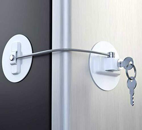 UNICLEE Refrigerator Key Lock,DL-B Refrigerator Door Lock with 2 Keys - ()