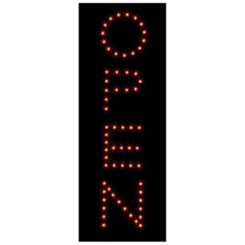 Vertical OPEN CLOSED Animated Store LED Light Neon Sign (Animated Hex)